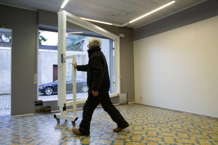 Belgian Man Builds A Secret Garage Door
