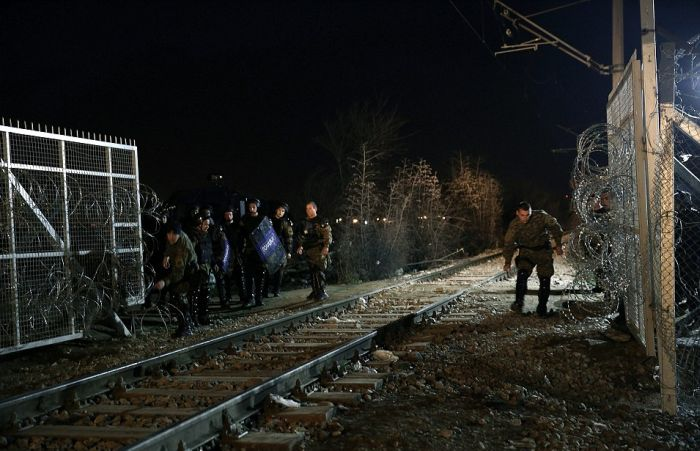 The 19 Mile Fence At The Border Of Macedonia Is Keeping Migrants Trapped