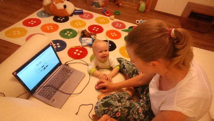 Woman Uses A Selfie Stick To Document A Day In The Life Of A Mom
