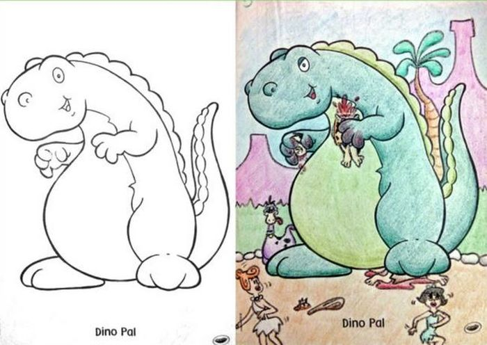 What It Looks Like When Coloring Book Pages Get Completely Corrupted