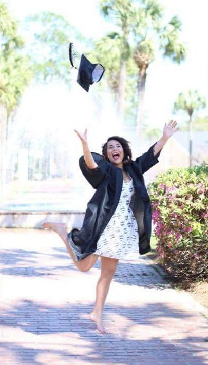 Girl Breaks Her Foot While Throwing Her Graduation Cap At