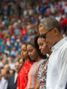 President Obama Attends Historic Baseball Game In Cuba