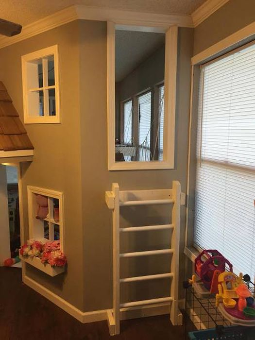 Dad Transforms An Entire Room Into A Playhouse For His Kids
