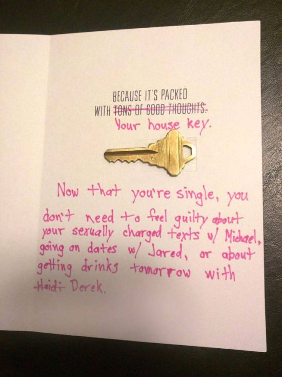 Guy Uses A Clever Card To Dump His Cheating Girlfriend