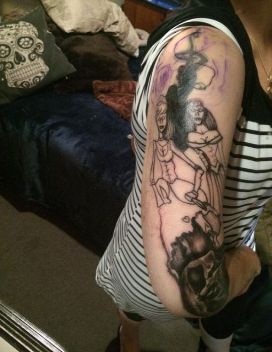 A Woman Went To Get A Fairytale Tattoo But She Ended Up With