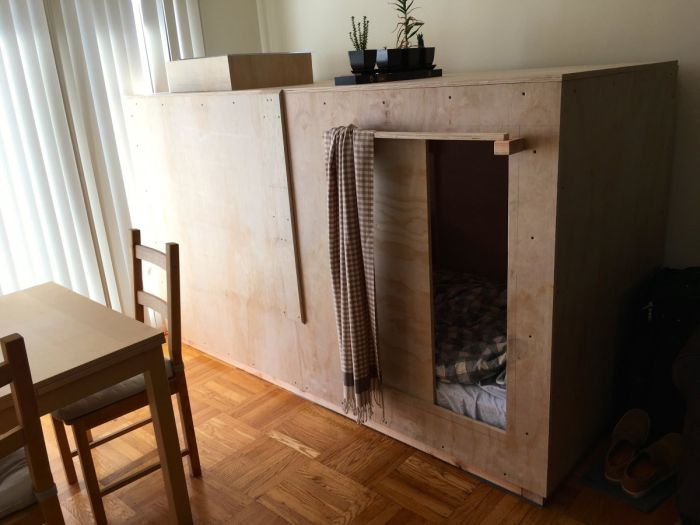 Creative Illustrator Turns His Dresser Into A Bedroom