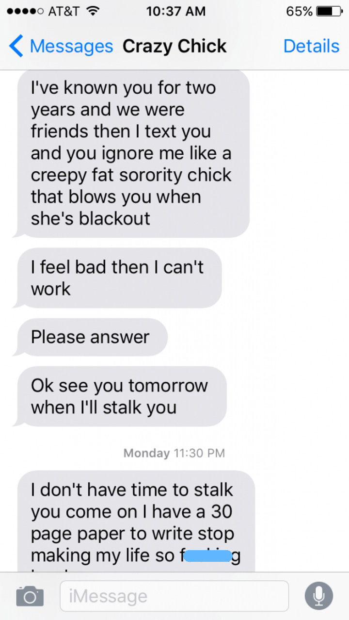 Angry Ex-Girlfriend Goes On The Most Insane Text Rant Ever