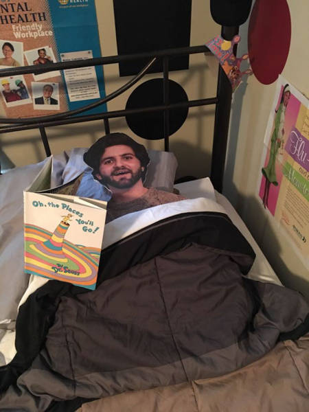 A Son Sent His Mom A Cardboard Cutout Of Himself And She Took It Everywhere