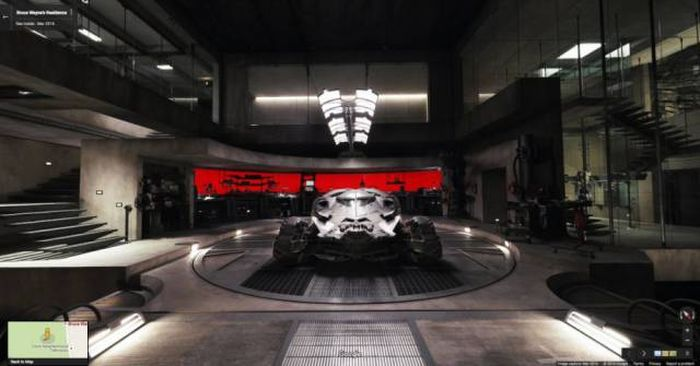 Take A Look Inside Batman's Batcave From Batman V Superman With Google Maps