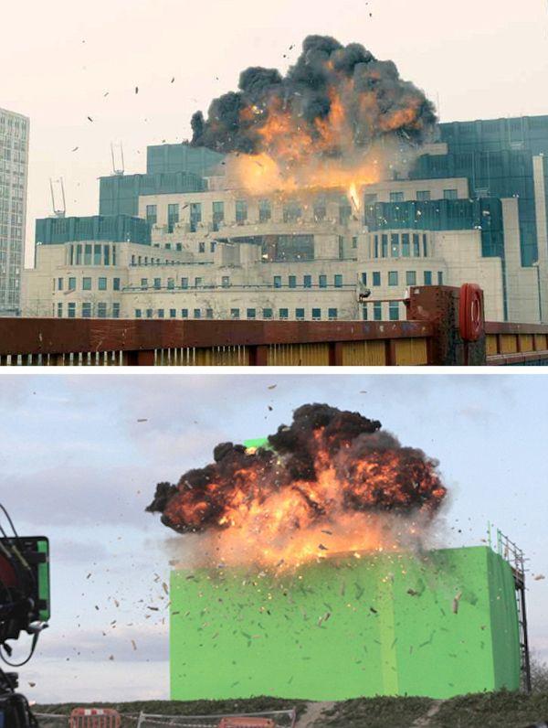 Spectacular Images Reveal The Secrets Behind James Bond's Biggest Stunts
