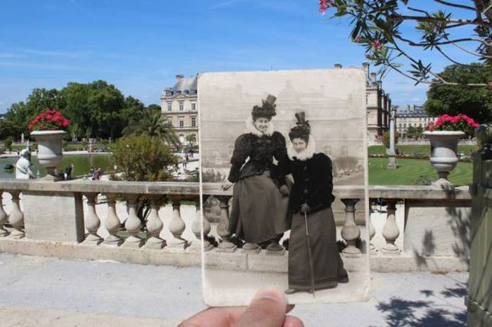 Old Photos Of Paris Meet New Photos In This Interesting Look At History