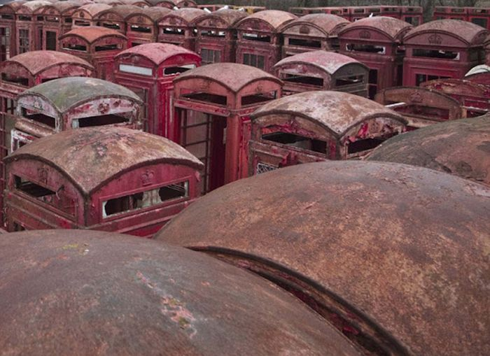 These Graveyards Are Where Old Phone Boxes Go To Die