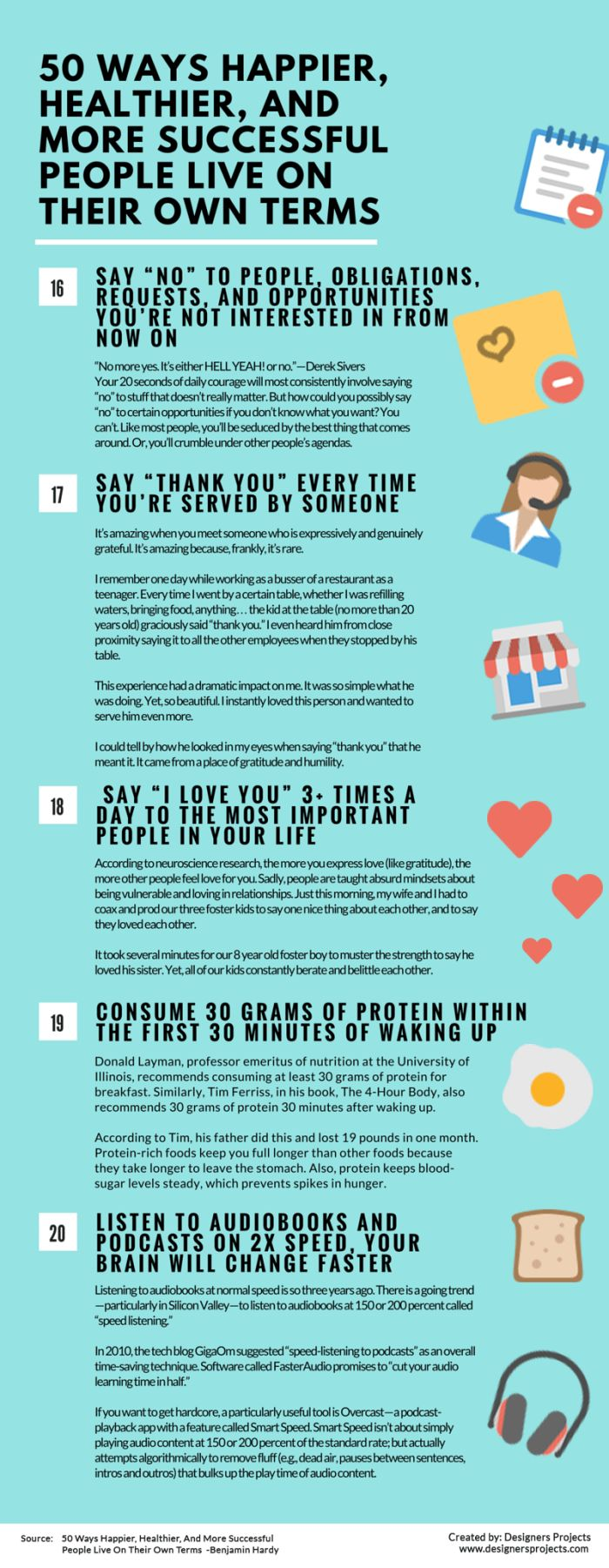 50 Different Ways That Happy And Successful People Live On Their Own Terms