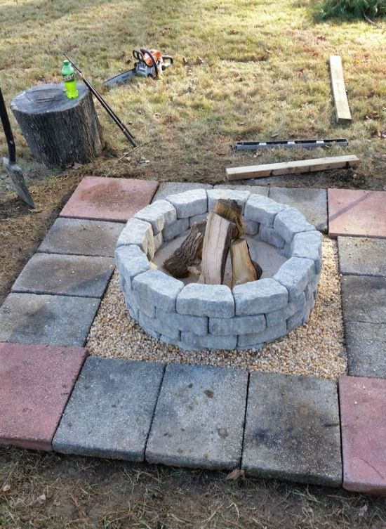 How to build a diy fire pit in your own backyard others for How to improve your backyard