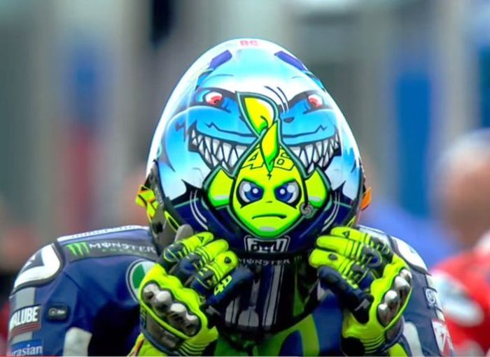 Looking Back On 10 Years Of Awesome Valentino Rossi Helmets