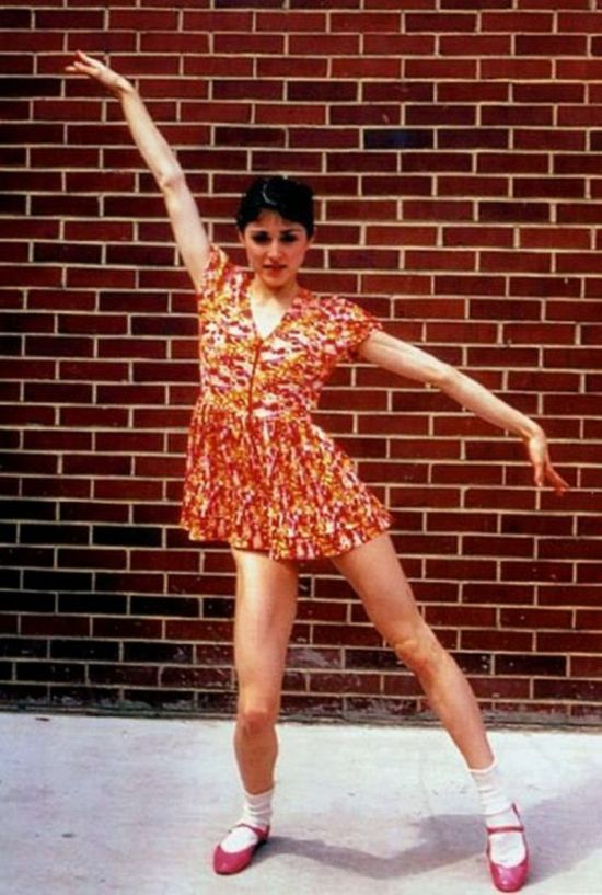 Rare Pictures Show A Young Madonna Striking A Pose