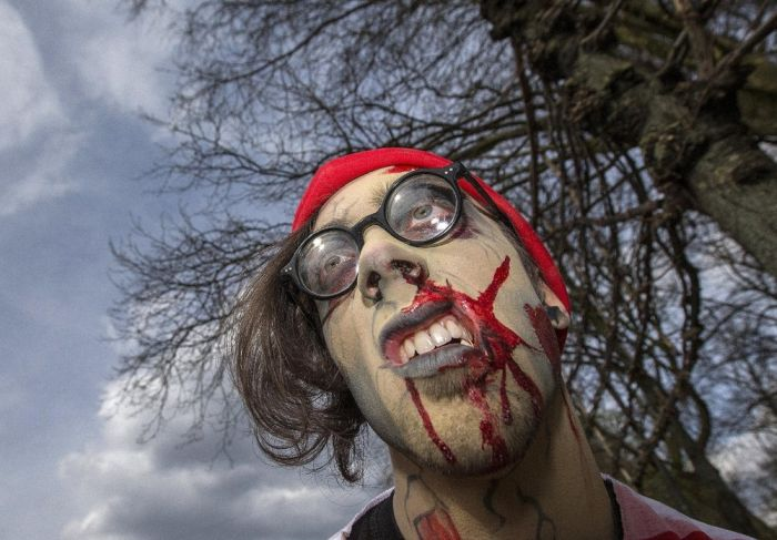 Zombies Creep Through The Streets Of Brussels