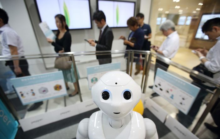 Japanese Robot Attends High School For The First Time