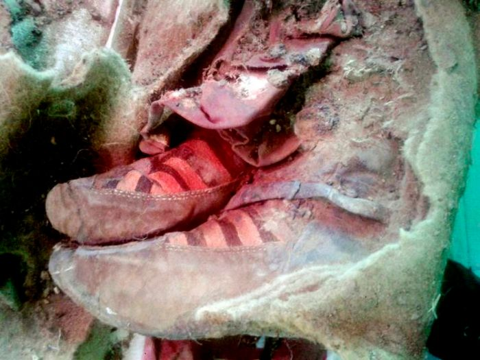 Time Traveling Mummy Discovered Wearing Adidas Boots