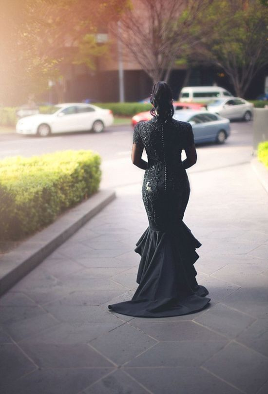 Bride Does Something Different And Walks Down The Aisle In A Black Wedding Dress