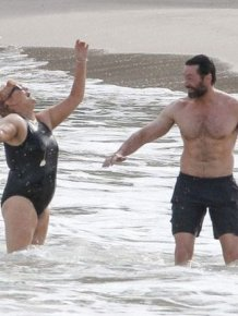 Hugh Jackman And His Wife Celebrate Their 20th Anniversary In St. Barts
