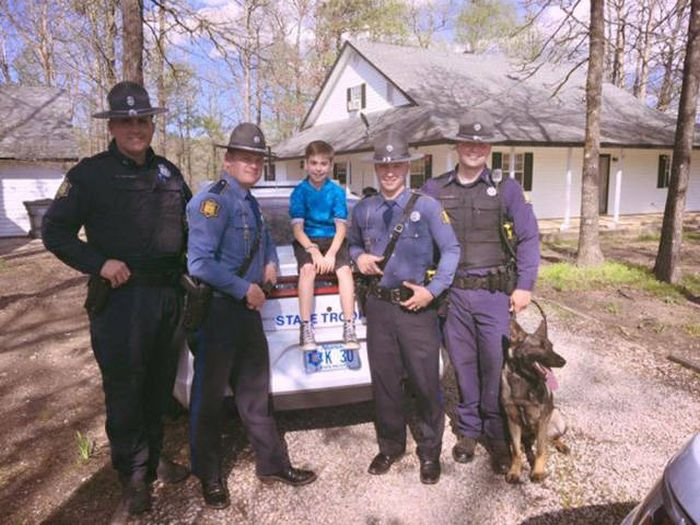State Troopers Surprise A Kid For His Birthday After His Whole Class Bailed