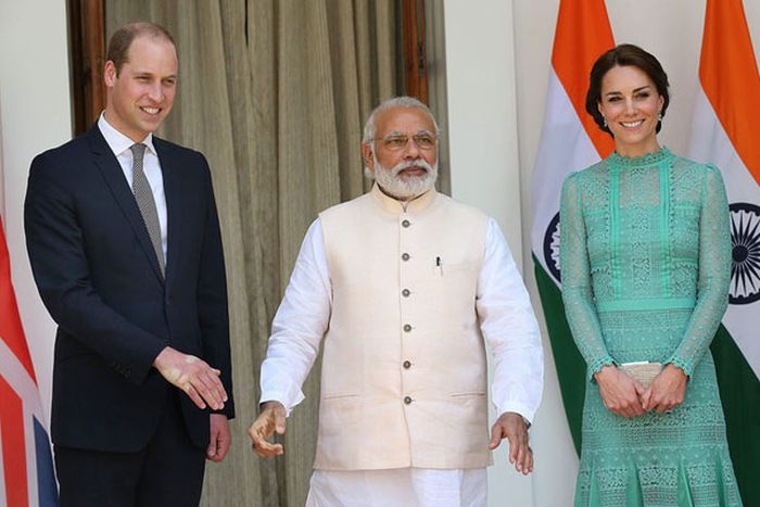 Prince William Received A Very Firm Handshake From The Prime Minister Of India