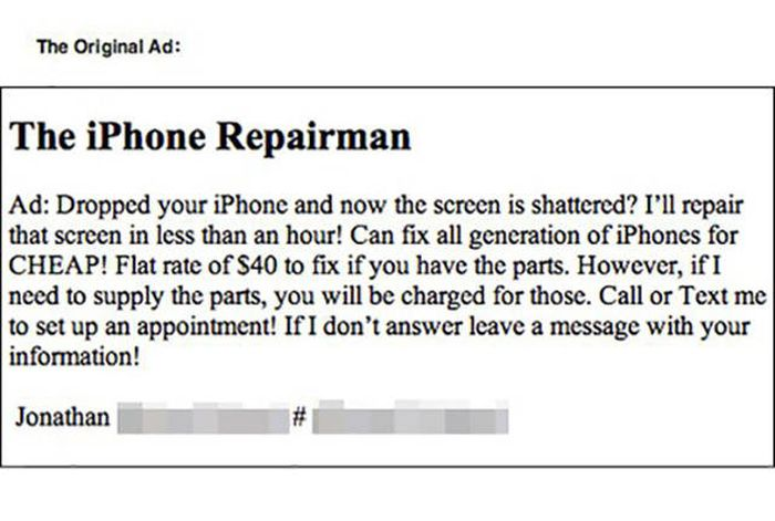 iPhone Repairman Gets Trolled By A Crack On The Screen