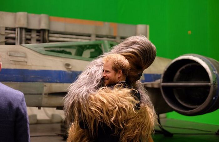 Princes William And Prince Harry Visit The Set Of Star Wars: Episode VIII