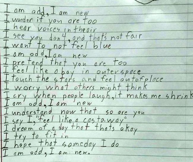 Talented Boy Writes Touching Poem About Asperger's Syndrome