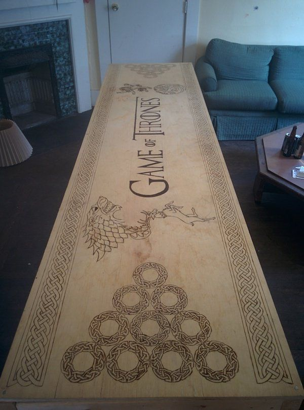 This Fan Built The Ultimate Game Of Thrones Themed Beer Pong Table