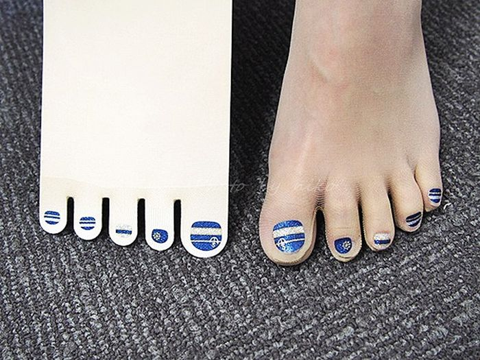 People In Japan Are Going Crazy For These Stockings With Pre-Painted Toenails