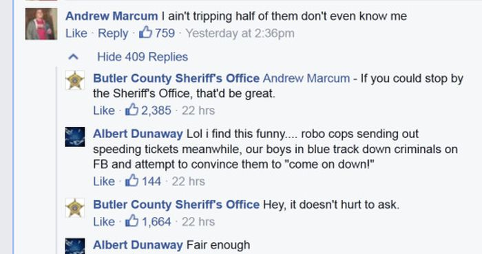 Facebook Tough Guy Isn't So Tough When He Meets The Police
