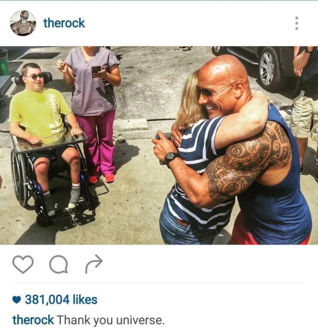 The Rock Continues To Prove He's Awesome By Making Time For His Fans