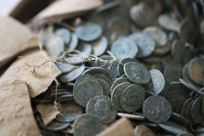 Construction Workers Find 1,300 Pounds Of Roman Coins Discovered In Spain