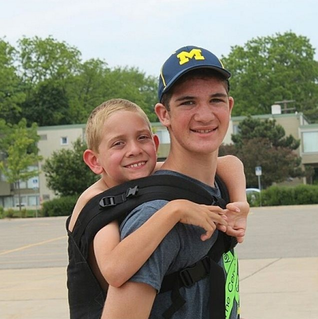 Teen Raises Awareness For Cerebral Palsy By Carrying His Brother 111 Miles