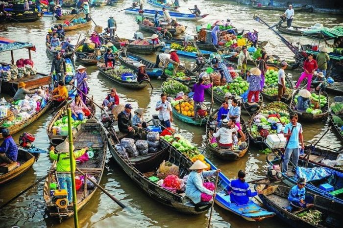 Floating Markets Play An Important Role In Southeast Asia