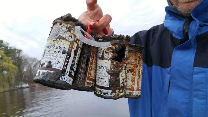 Friends From Wisconsin Catch A 6 Pack Of Beer During Their Fishing Trip