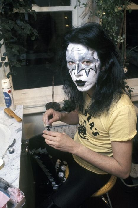 Backstage Photos Of Kiss Getting Ready To Take The Stage