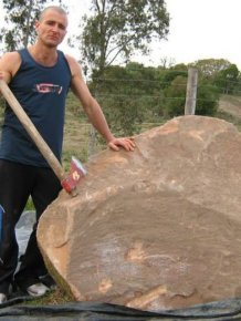 See How This Man Turned A Giant Rock Into An Impressive Sculpture