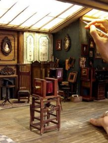 Man Builds Tiny Replica Of An Old Photo Studio