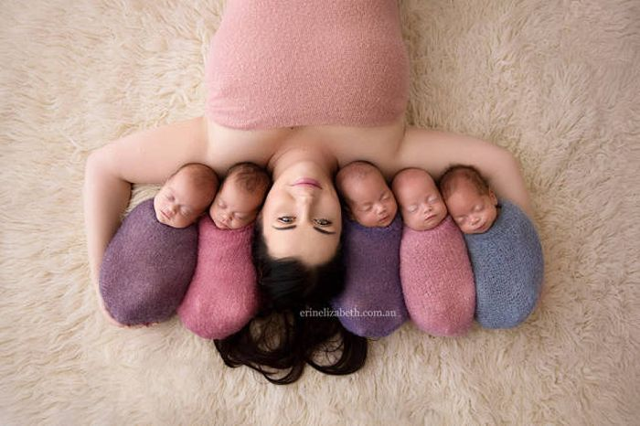 Baby Quintuplets Pose For The Most Adorable Photoshoot Ever