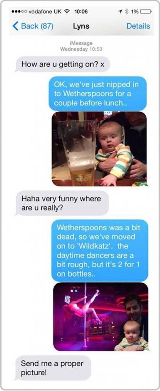 Husband Drives His Wife Crazy With Photoshopped Pictures Of Their Baby