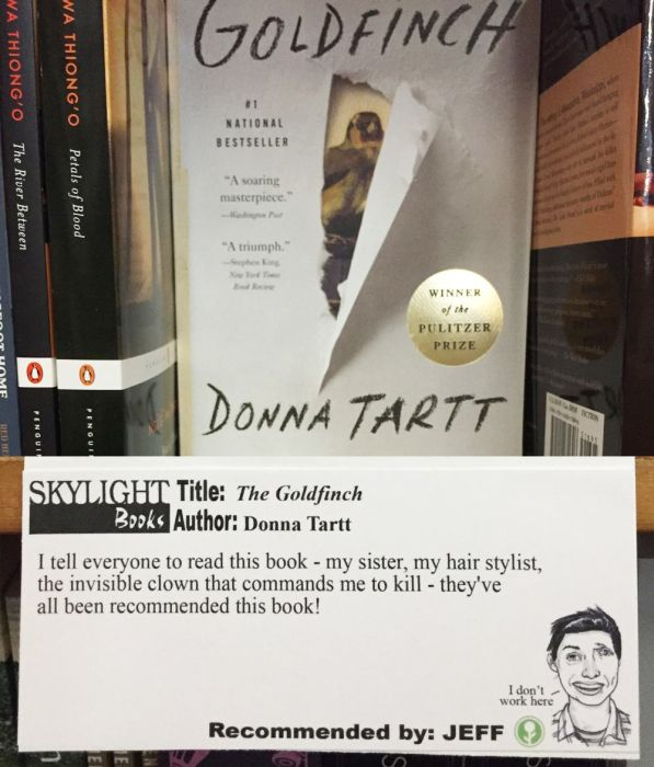 A Guy Named Jeff Is Recommending Books At His Local Bookstore