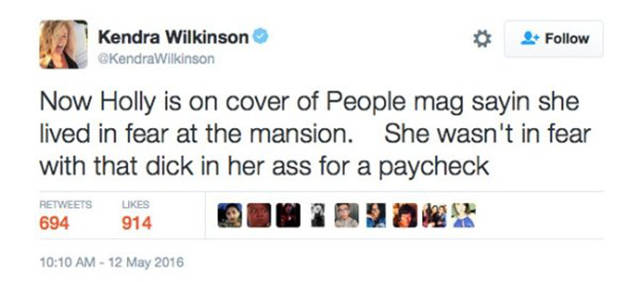 Kendra Wilkinson Exposed Holly Madison With A Savage Burn On Twitter