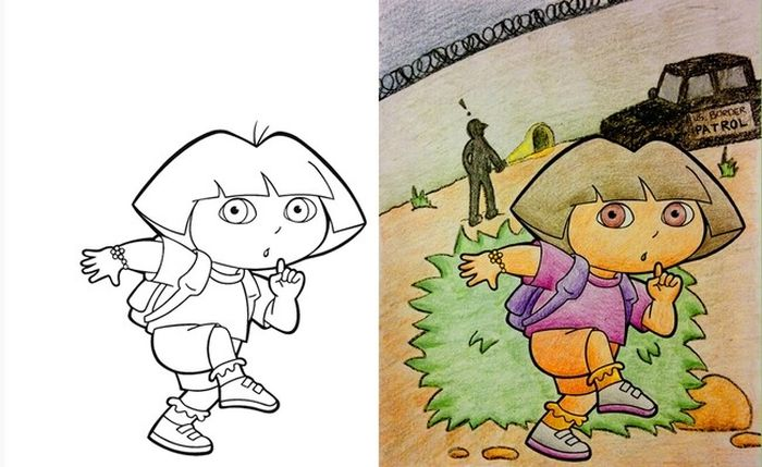 Childrens Coloring Books That Were Violated By Adults