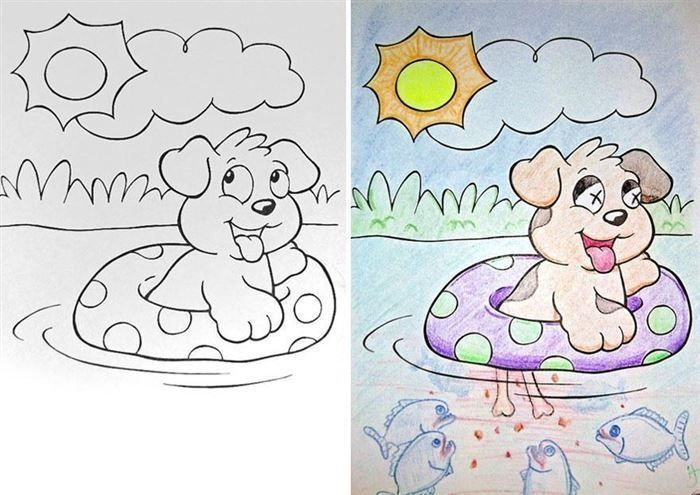 Children's Coloring Books That Were Violated By Adults