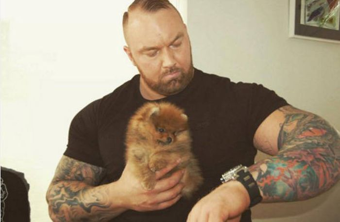 The Mountain From Game Of Thrones Adores His Tiny Little Dog