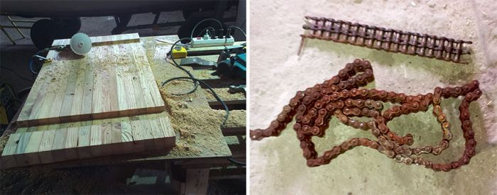 Creative Guy Uses Old Rusty Chain For Something Awesome