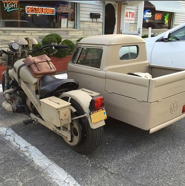 Cool Motorcycle With An Awesome Custom Sidecar